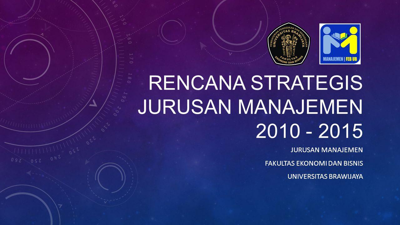 RENCANA STRATEGIS JURUSAN MANAJEMEN 2010 - 2015 JURUSAN MANAJEMEN FAKULTAS EKONOMI DAN BISNIS UNIVERSITAS BRAWIJAYA