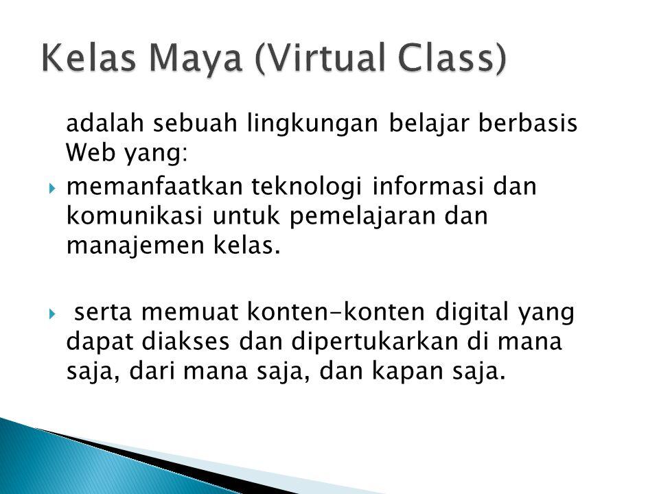  Siswa mengikuti Kelas Maya untuk mata pelajaran tertentu dengan jadwal tertentu.