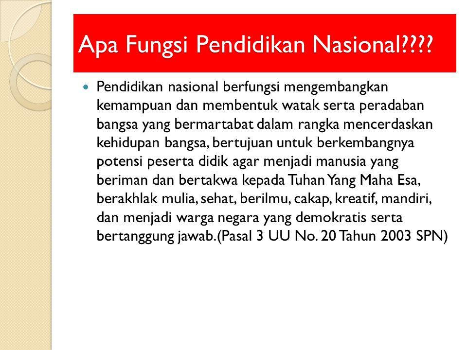 Apa Fungsi Pendidikan Nasional???.