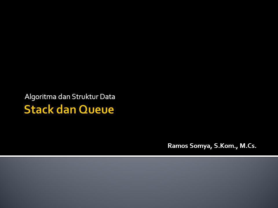 Algoritma dan Struktur Data Ramos Somya, S.Kom., M.Cs.