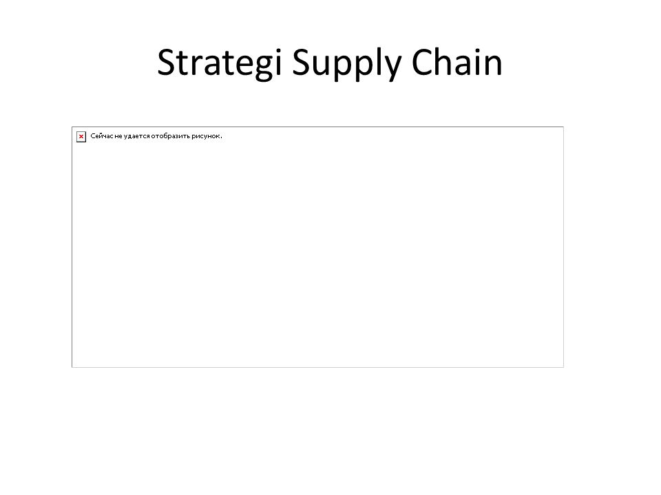 Strategi Supply Chain