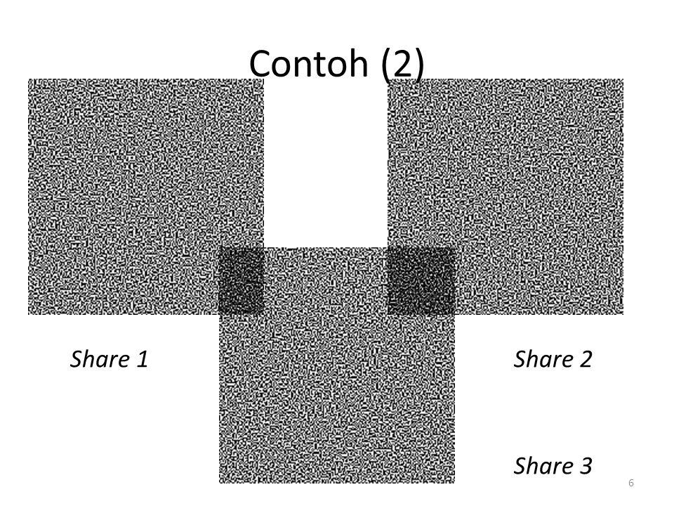6 Contoh (2) Share 1Share 2 Share 3