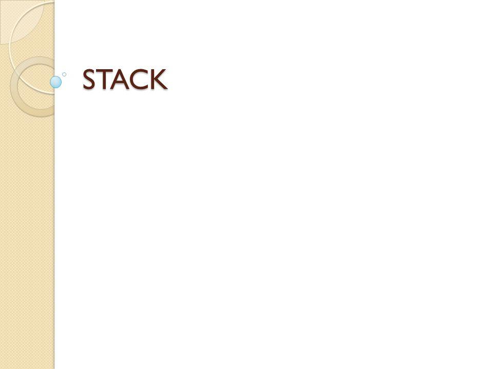 Fungsi Push Untuk memasukkan elemen ke data Stack.