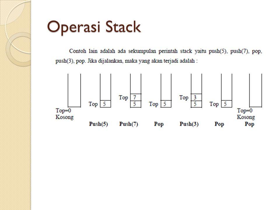Operasi Stack