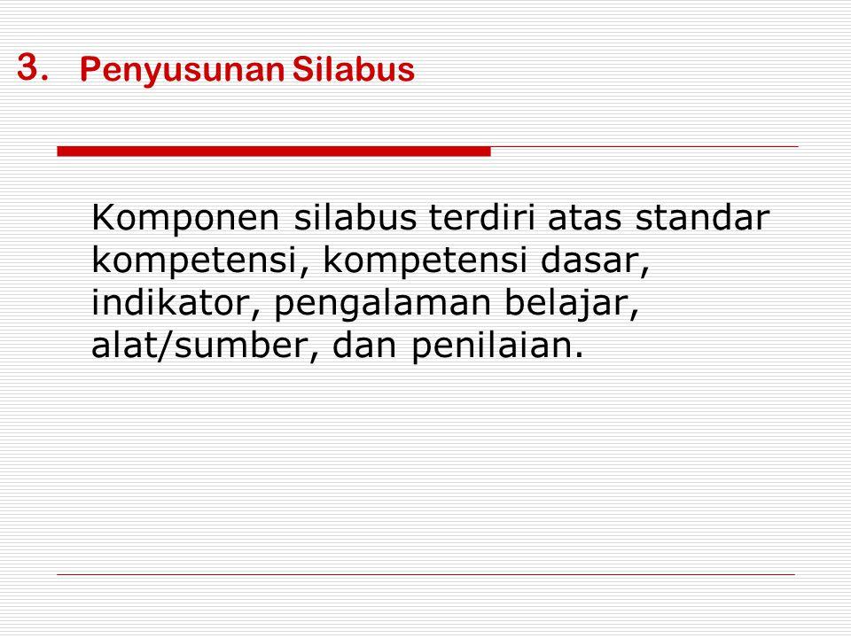 Penyusunan Rencana Pelaksanaan Pembelajaran Komponen rencana pembelajaran tematik meliputi :  Identitas mata pelajaran  Kompetensi dasar dan indikator yang akan dilaksanakan.
