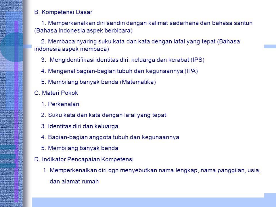 B.Kompetensi Dasar 1.