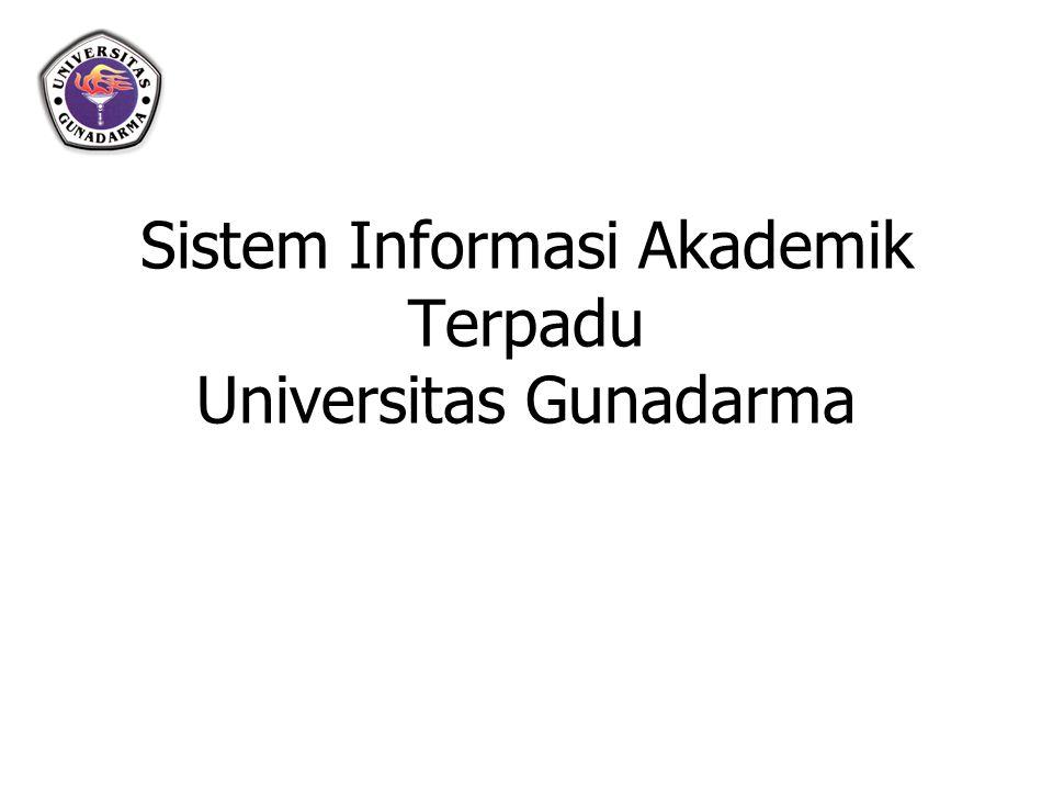 VISI Tersedianya Informasi Akademik berbasis Teknologi Informasi dan Komunikasi yang cepat dan akurat di Universitas Gunadarma