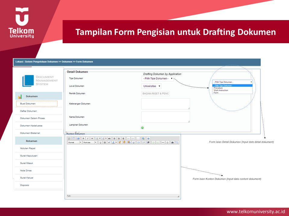 Tampilan Form Pengisian untuk Drafting Dokumen
