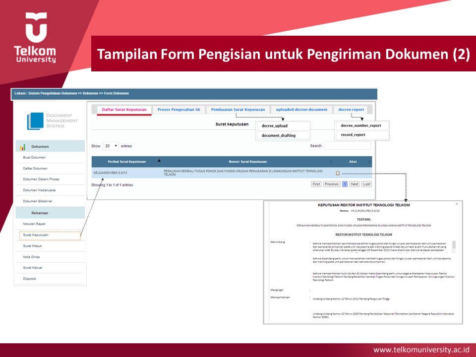 Tampilan Form Pengisian untuk Pengiriman Dokumen (2)
