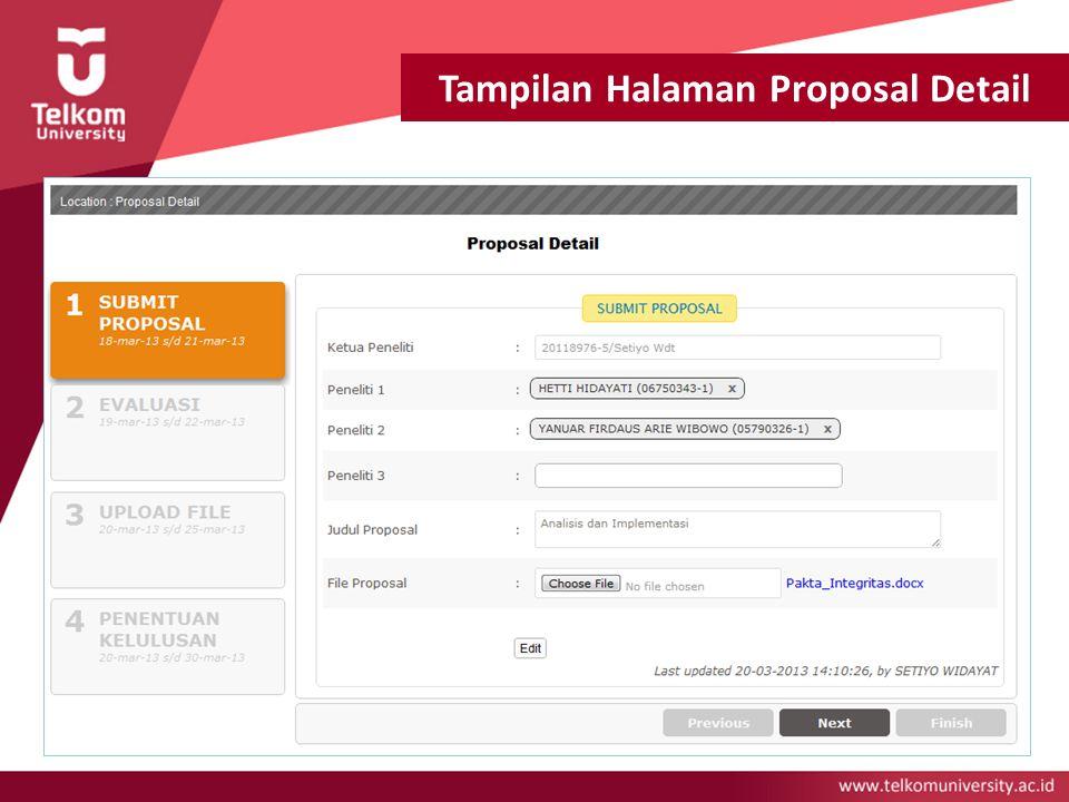 Tampilan Halaman Proposal Detail