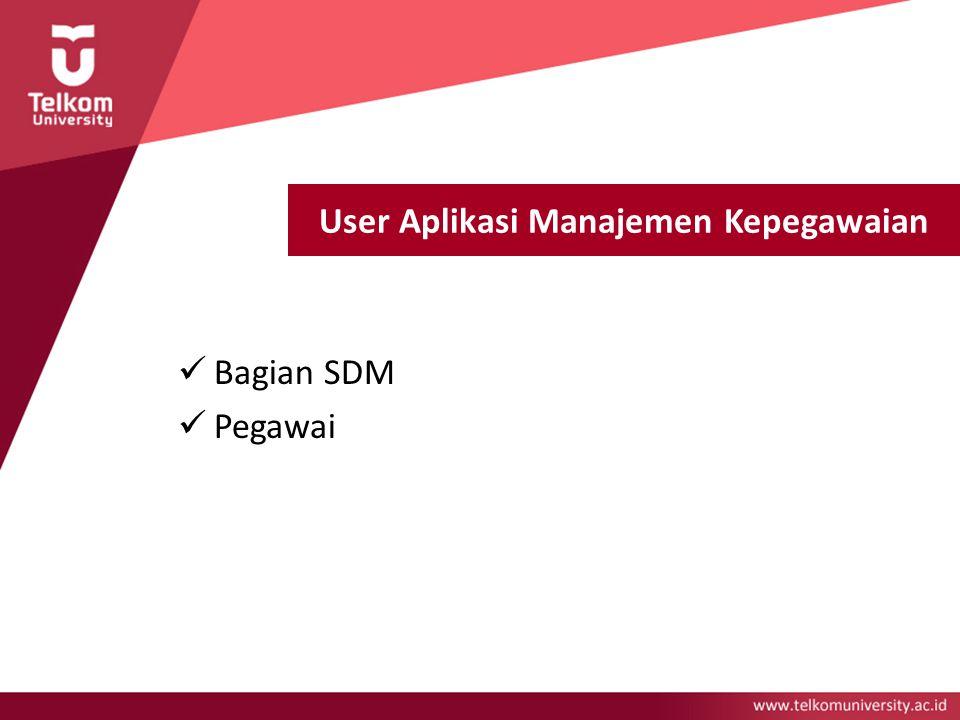 User Aplikasi Manajemen Kepegawaian Bagian SDM Pegawai