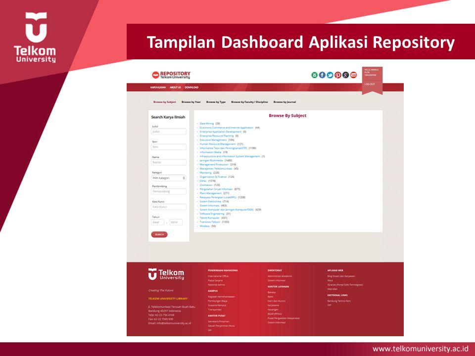 Tampilan Dashboard Aplikasi Repository