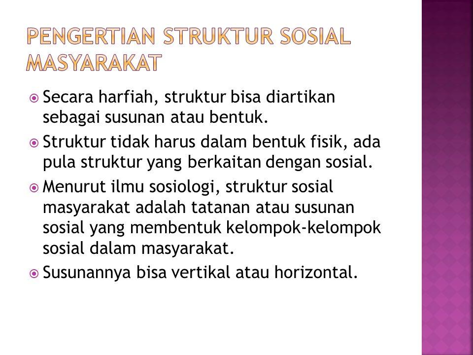  Secara harfiah, struktur bisa diartikan sebagai susunan atau bentuk.  Struktur tidak harus dalam bentuk fisik, ada pula struktur yang berkaitan den
