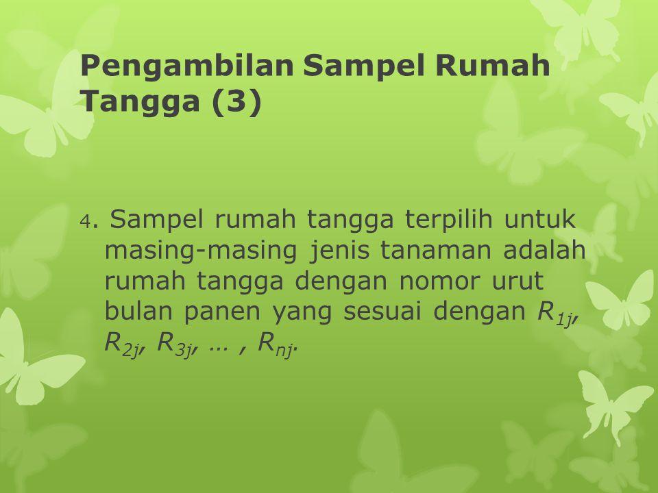 Pengambilan Sampel Rumah Tangga (3) 4. Sampel rumah tangga terpilih untuk masing-masing jenis tanaman adalah rumah tangga dengan nomor urut bulan pane
