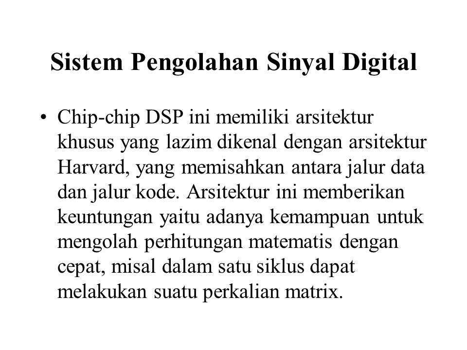Sistem Pengolahan Sinyal Digital Chip-chip DSP ini memiliki arsitektur khusus yang lazim dikenal dengan arsitektur Harvard, yang memisahkan antara jal