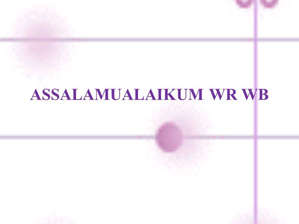 ASSALAMUALAIKUM WR WB