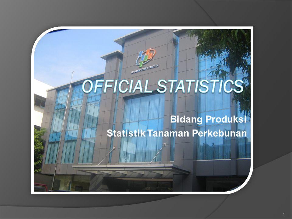 Bidang Produksi Statistik Tanaman Perkebunan 1