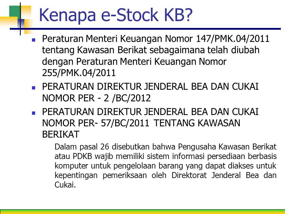 Kenapa e-Stock KB.
