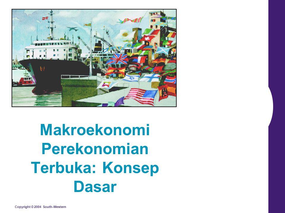 Copyright © 2004 South-Western Makroekonomi Perekonomian Terbuka: Konsep Dasar