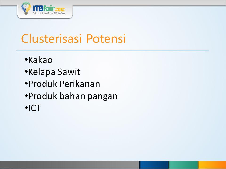 Clusterisasi Potensi Kakao Kelapa Sawit Produk Perikanan Produk bahan pangan ICT