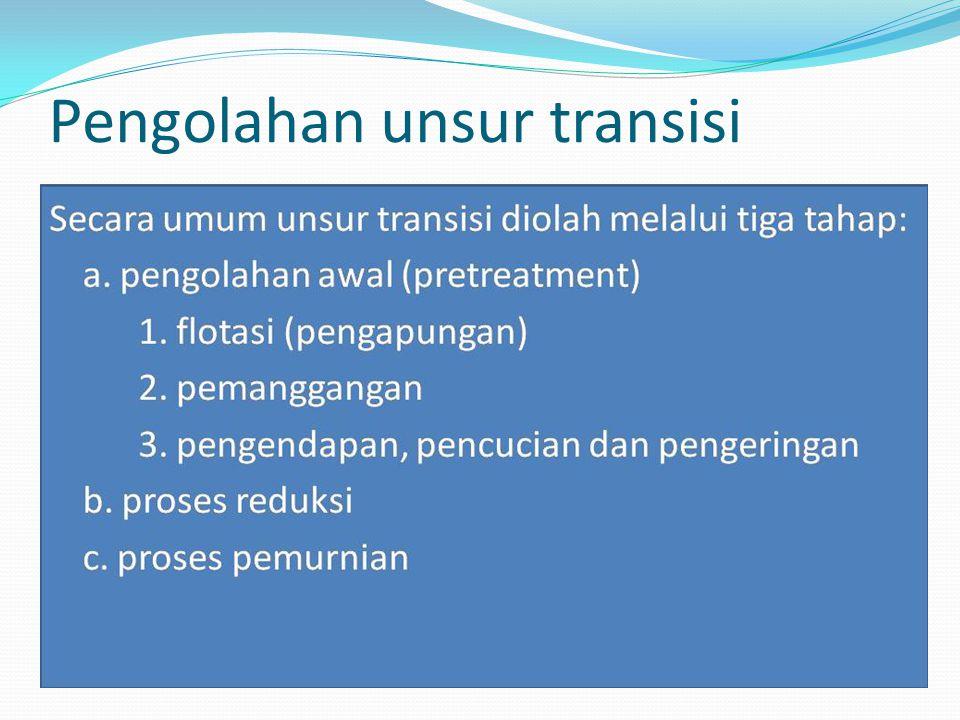 Sifat umum unsur-unsur transisi