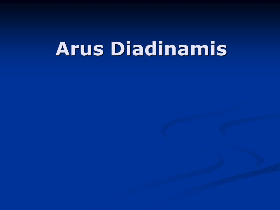 Arus Diadinamis