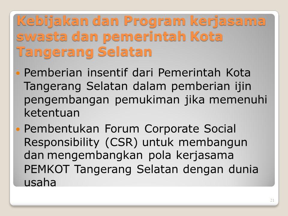 Hubungan antar stakeholder (Pemerintah – Swasta – Masyarakat) Masyarakat terhadap Swasta Peran serta menjaga aset swasta Sumber tenaga kerja Swasta te
