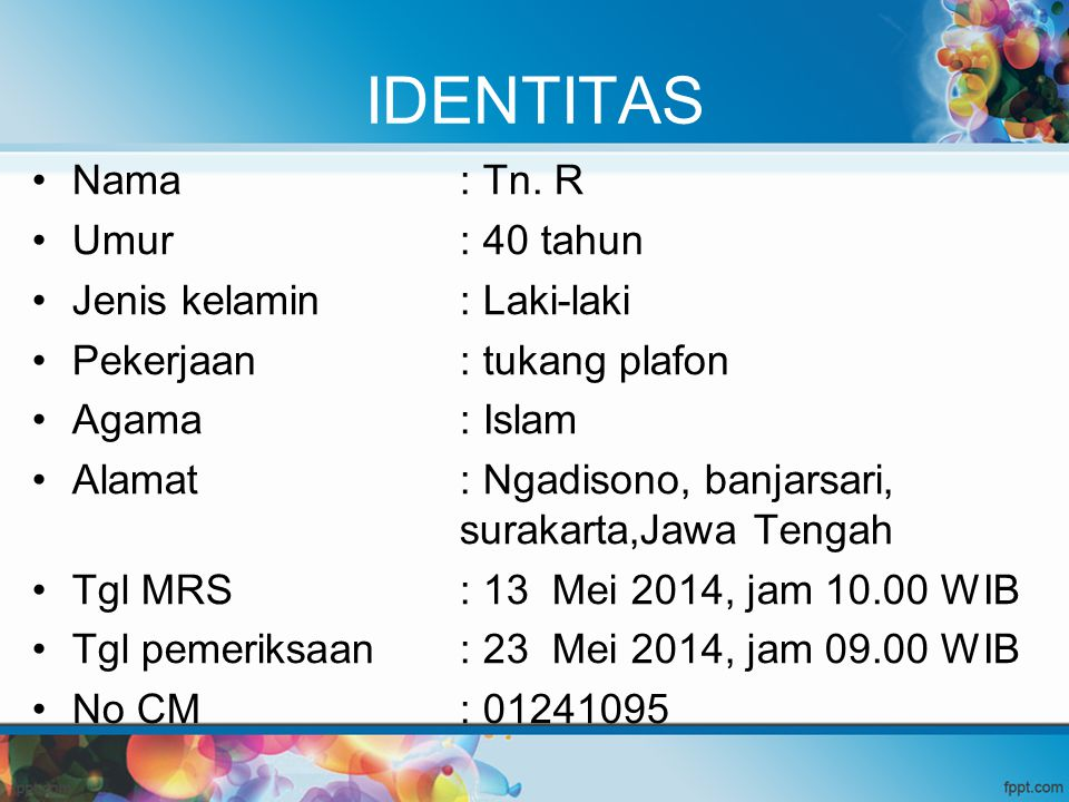 Laboratorium Pemeriksaan21-05-2014 PSA0,42 ng/ml CEA3,11 ng/ml AFP2,15 IU/ml