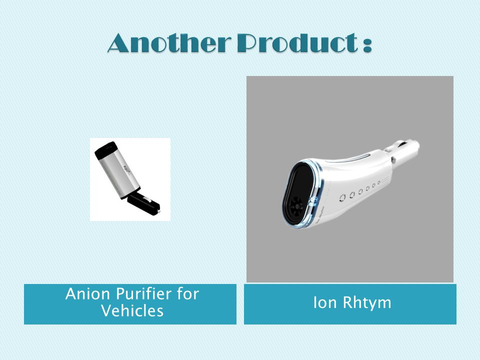 Anion Purifier for Vehicles Ion Rhtym