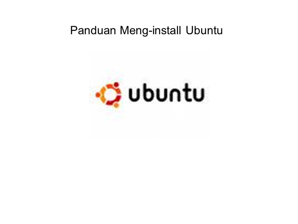 Panduan Meng-install Ubuntu