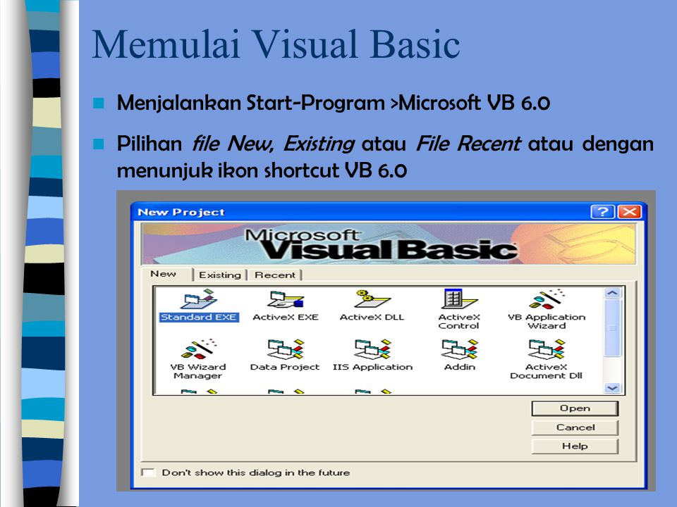 Membuat Program VB 1. Membuat Label