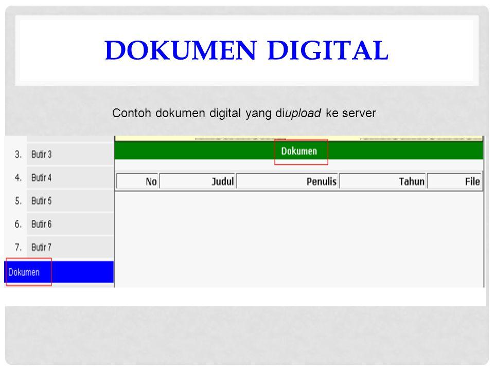 DOKUMEN DIGITAL Contoh dokumen digital yang diupload ke server