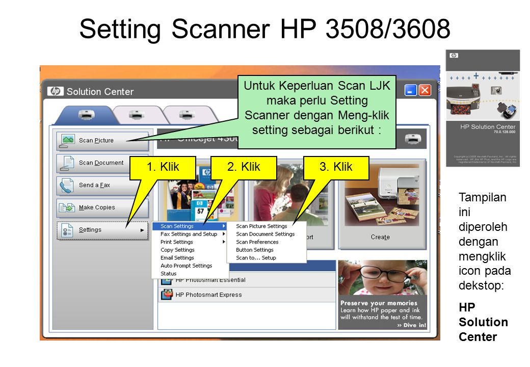 Setting Scanner HP 3508/3608 1.