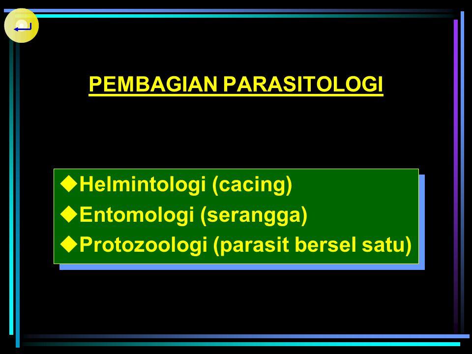  Parasit (Sites = makanan)  Parasitisme  Parasit Obligat (Permanen)  Parasit Fakultatif (Opportunist) - Amphizoic (Page, 1974) - (Naegleria, Acant
