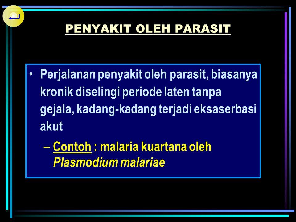 Masa tunas biologi yaitu waktu yang dibutuhkan parasit, sejak parasit masuk ke dalam tubuh sampai salah satu stadiumnya ditemukan pada pemeriksaan lab