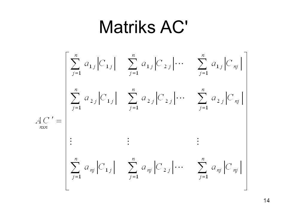 Matriks AC' 14