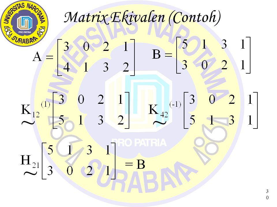 31 Matrix Elementer
