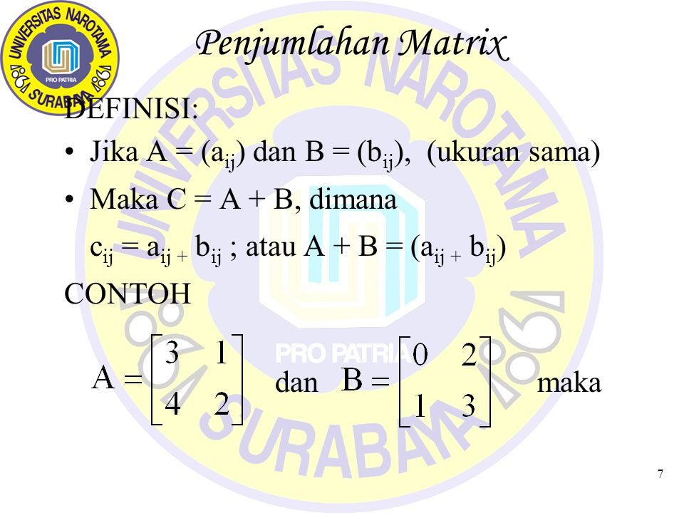 8 Penjumlahan Matrix (1)