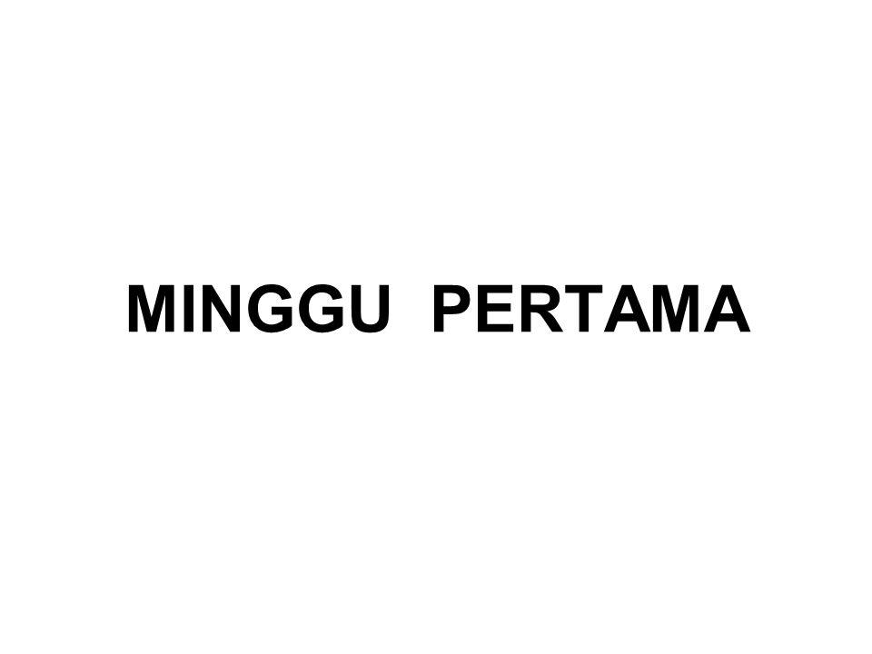 MINGGU PERTAMA