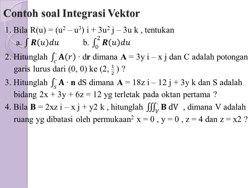 Contoh soal Integrasi Vektor