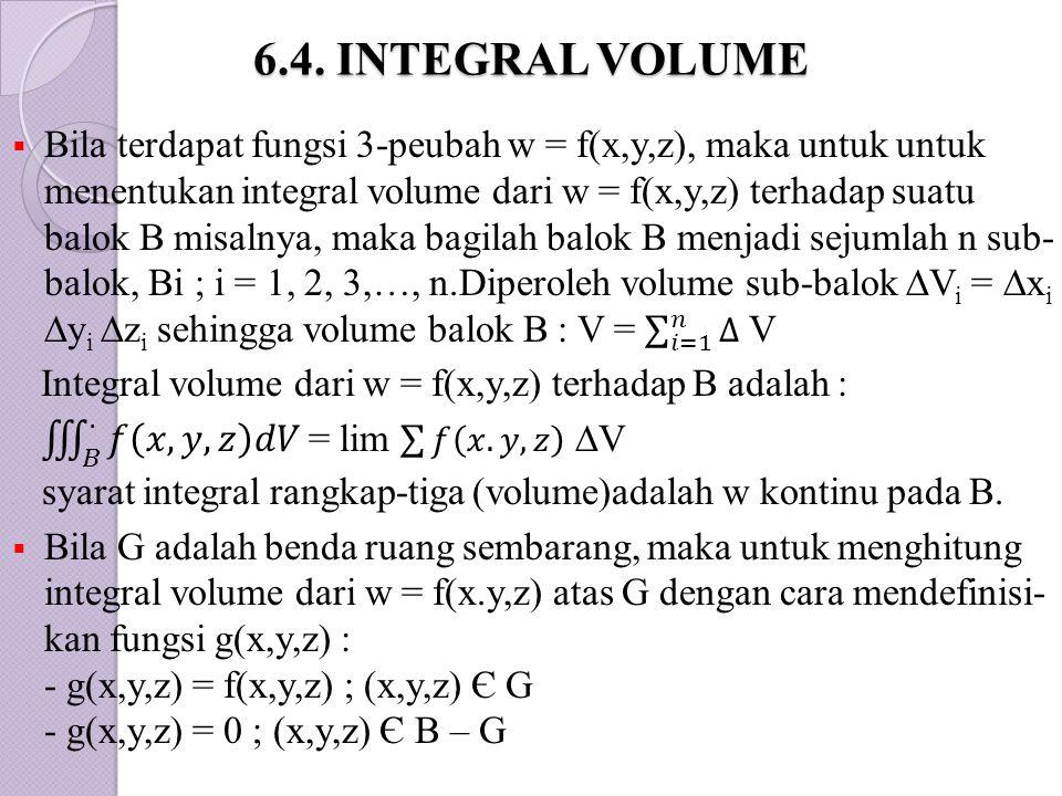 6.4. INTEGRAL VOLUME