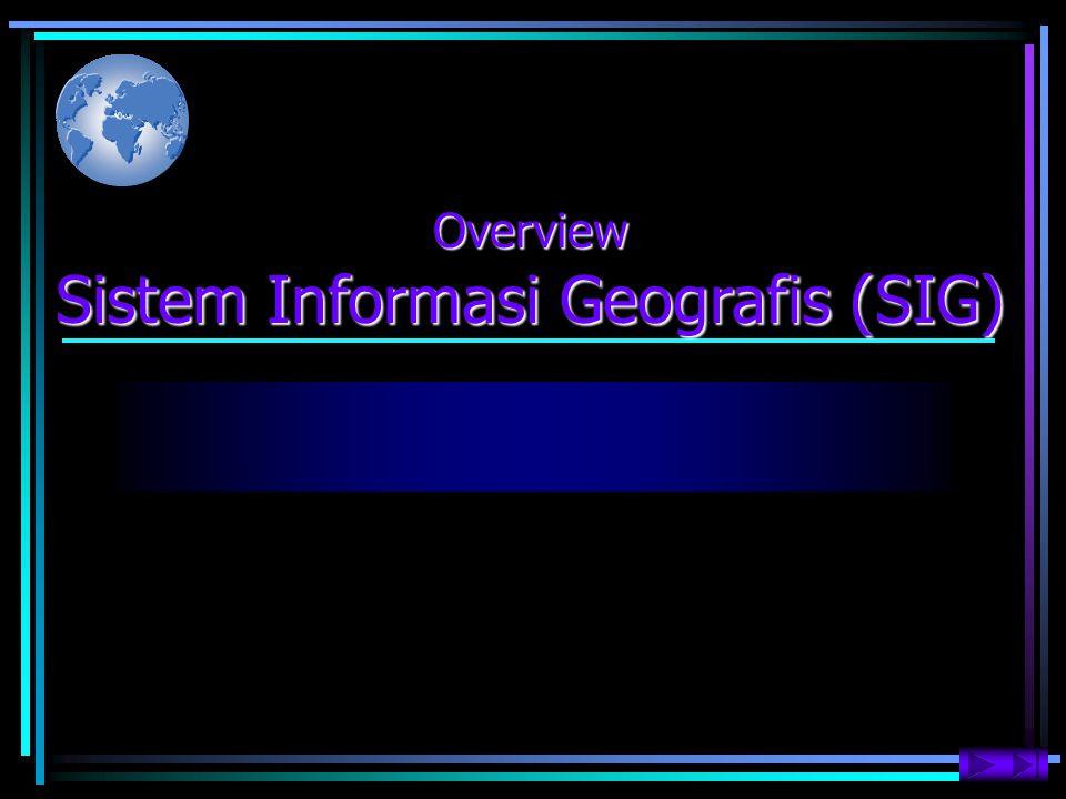 Konsep Dasar Kerja SIG (2) Acuan Geografis (Geographic References) Acuan geografis secara implisit seperti lintang & bujur atau koordinat grid peta.