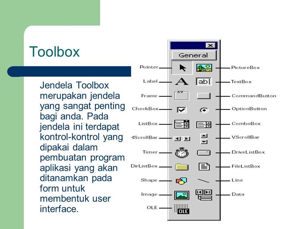 Toolbox Jendela Toolbox merupakan jendela yang sangat penting bagi anda.