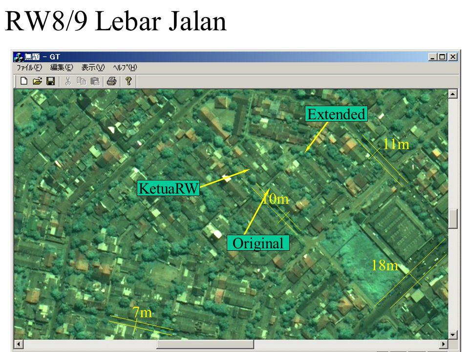 RW8/9 Lebar Jalan Original Extended KetuaRW 10m 18m 11m 7m