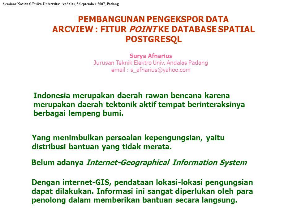 Indonesia merupakan daerah rawan bencana karena merupakan daerah tektonik aktif tempat berinteraksinya berbagai lempeng bumi.