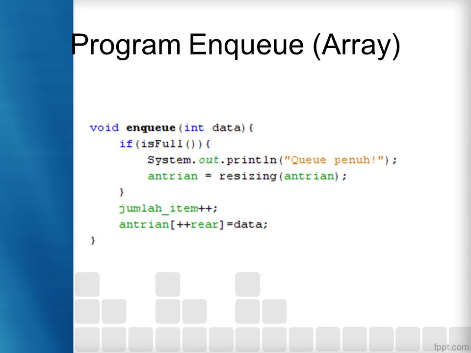 Program Enqueue (Array)