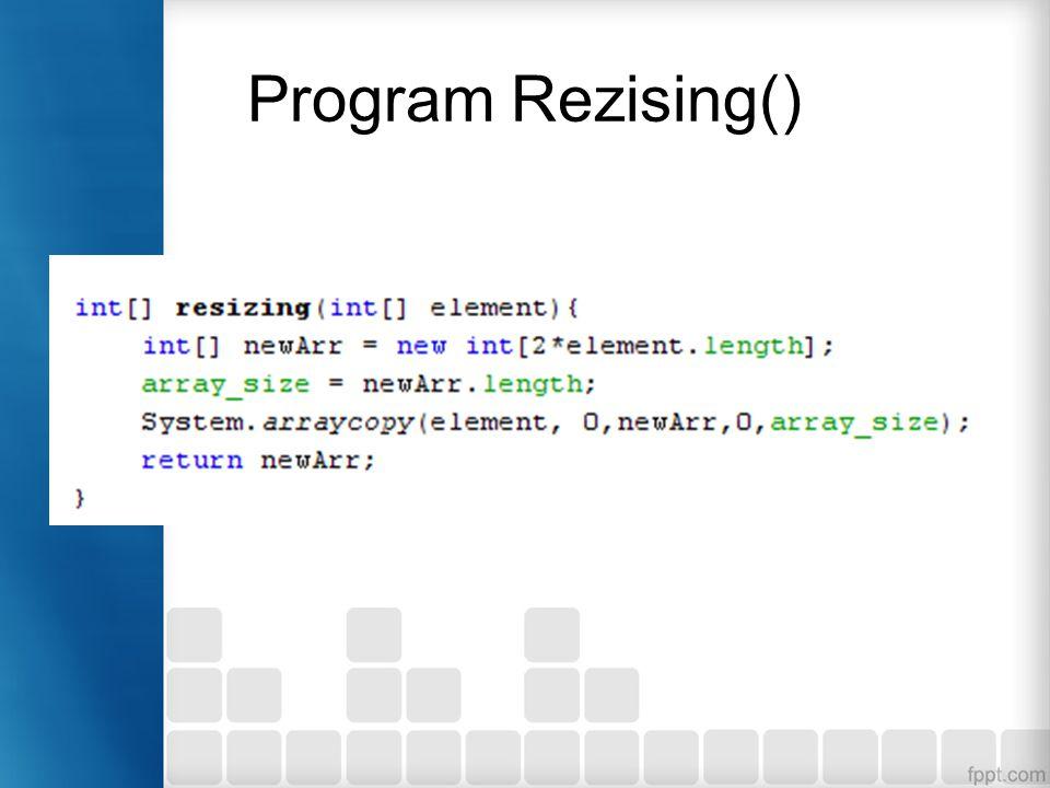 Program Rezising()