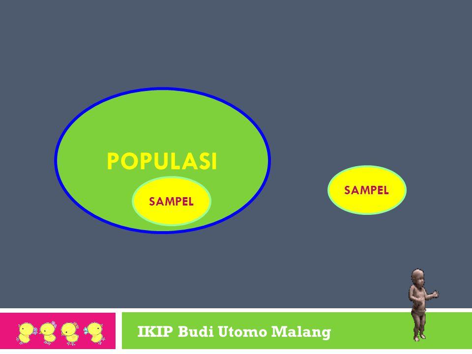 IKIP Budi Utomo Malang SAMPEL POPULASI SAMPEL