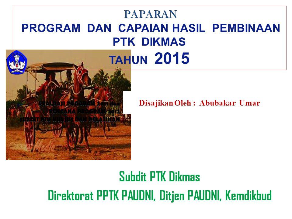 Tugas Pokok Subdit PTK Dikmas (Permendikbud No.