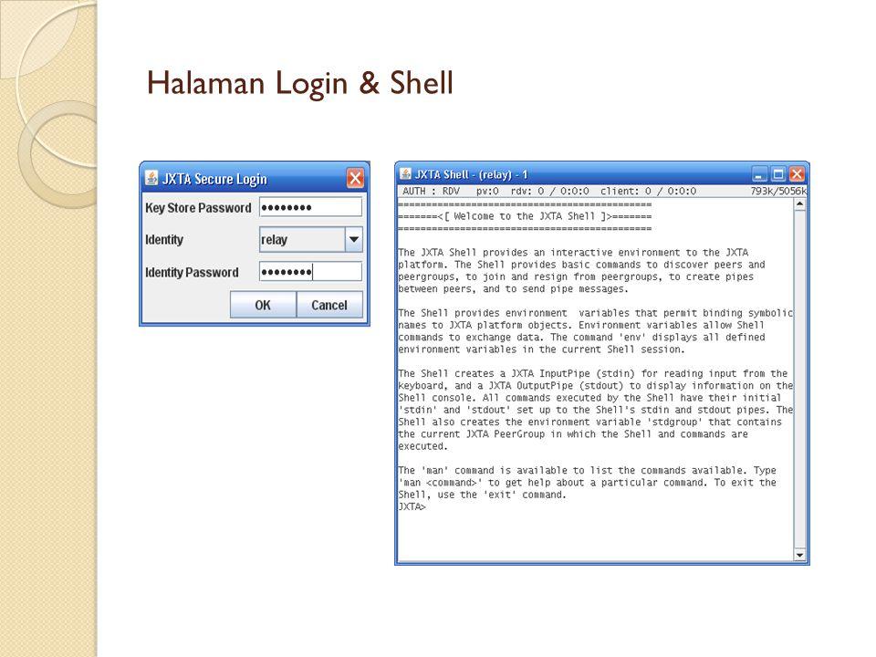 Halaman Login & Shell